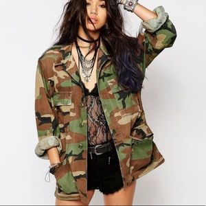 Authentic military camo jacket 8415